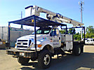 Altec LRV-55, Over-Center Bucket Truck, mounted behind cab on, 2004 Ford F750 4x4 Flatbed Truck