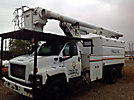 Altec LRV-55, Over-Center Bucket Truck, mounted behind cab on, 2004 GMC C7500 Chipper Dump Truck