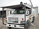 Altec LRV-55, Over-Center Bucket Truck, mounted behind cab on, 2004 GMC C7500 Chipper Dump Truck