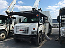 Altec LRV-55, Over-Center Bucket Truck, mounted behind cab on, 2005 GMC C7500 Chipper Dump Truck