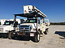 Altec LRV-55, Over-Center Bucket Truck, mounted behind cab on, 2006 Ford F750 4x4 Flatbed Truck