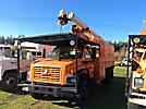 Altec LRV-55, Over-Center Bucket Truck, mounted behind cab on, 2006 GMC C7500 Chipper Dump Truck