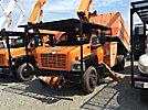 Altec LRV-55, Over-Center Bucket Truck, mounted behind cab on 2004 GMC C7500 Chipper Dump Truck,