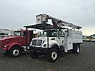 Altec LRV-55, Over-Center Bucket Truck, mounted behind cab on 2004 International 7300 4x4 Chipper Dump Truck,