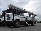 Altec LRV-55, Over-Center Bucket Truck, rear mounted on, 2002 GMC C6500 Flatbed Truck