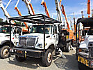 Altec LRV-55, Over-Center Bucket Truck, rear mounted on, 2003 International 7300 4x4 Flatbed Truck