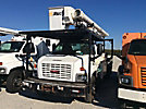 Altec LRV-55, Over-Center Bucket Truck, rear mounted on, 2006 GMC C7500 Flatbed Truck