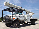 Altec LRV-55, Over-Center Bucket Truck center mounted on 2004 Ford F750 4x4 Flatbed Truck