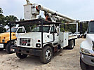 Altec LRV-55, Over-Center Bucket Truck mounted behind cab on 2000 GMC C7500 Flatbed/Utility Truck