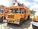 Altec LRV-55, Over-Center Bucket Truck mounted behind cab on 2002 International 4700 Chipper Dump Truck