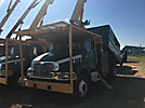 Altec LRV-55, Over-Center Bucket Truck mounted behind cab on 2002 Sterling Acterra Chipper Dump Truck