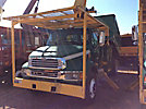 Altec LRV-55, Over-Center Bucket Truck mounted behind cab on 2002 Sterling M7500 Chipper Dump Truck