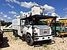 Altec LRV-55, Over-Center Bucket Truck mounted behind cab on 2004 GMC C7500 Chipper Dump Truck