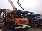 Altec LRV-55, Over-Center Bucket Truck mounted behind cab on 2004 GMC C7500 Chipper Dump Truck