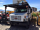 Altec LRV-55, Over-Center Bucket Truck mounted behind cab on 2005 GMC C7500 Chipper Dump Truck