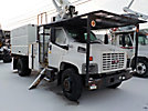 Altec LRV-55, Over-Center Bucket Truck mounted behind cab on 2005 GMC C7500 Chipper Dump Truck