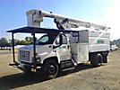 Altec LRV-55, mounted behind cab on, 2004 GMC C7500 Chipper Dump Truck