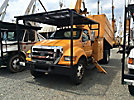 Altec LRV-56, Bucket Truck, mounted behind cab on 2006 Ford F650 Chipper Dump Truck,