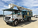 Altec LRV-56, Over-Center Bucket Truck, mounted behind cab on, 2003 Ford F750 Chipper Dump Truck