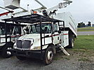 Altec LRV-56, Over-Center Bucket Truck, mounted behind cab on, 2004 International 4300 Chipper Dump Truck