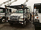 Altec LRV-56, Over-Center Bucket Truck, mounted behind cab on, 2005 Ford F650 Chipper Dump Truck