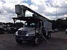 Altec LRV-56, Over-Center Bucket Truck, mounted behind cab on, 2005 International 4300 Chipper Dump Truck