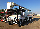 Altec LRV-56, Over-Center Bucket Truck, mounted behind cab on, 2008 Ford F750 Chipper Dump Truck