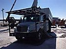 Altec LRV-56, Over-Center Bucket Truck, mounted behind cab on 2004 International 4300 Chipper Dump Truck,