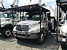 Altec LRV-56, Over-Center Bucket Truck, mounted behind cab on 2005 International 4300 Chipper Dump Truck,