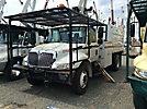 Altec LRV-56, Over-Center Bucket Truck, mounted behind cab on 2007 International 4300 Chipper Dump Truck,