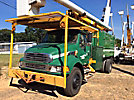 Altec LRV-56, Over-Center Bucket Truck mounted behind cab on 2004 Sterling Acterra Chipper Dump Truck