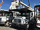 Altec LRV-56, Over-Center Bucket Truck mounted behind cab on 2005 International 4300 Chipper Dump Truck