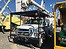 Altec LRV-56, Over-Center Bucket Truck mounted behind cab on 2008 Ford F750 Chipper Dump Truck