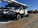 Altec LRV-57, Over-Center Bucket Truck, rear mounted on, 2006 Ford F750 4x4 Flatbed Truck
