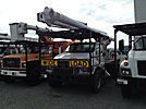Altec LRV-57, Over-Center Bucket Truck, rear mounted on, 2006 Ford F750 Flatbed Truck