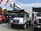 Altec LRV-57, Over-Center Bucket Truck, rear mounted on, 2012 International 4300 Flatbed Truck