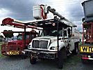 Altec LRV-58, Over-Center Bucket Truck, mounted behind cab on, 2006 International 7300 4x4 Chipper Dump Truck