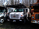Altec LRV-60, Over-Center Bucket Truck, mounted behind cab on, 2004 GMC C7500 Chipper Dump Truck