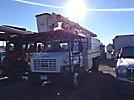 Altec LRV-60, Over-Center Bucket Truck, mounted behind cab on, 2004 GMC C7500 Chipper Dump Truck