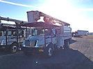 Altec LRV-60, Over-Center Bucket Truck, mounted behind cab on, 2006 International 4300 Chipper Dump Truck