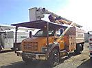 Altec LRV-60E70, Elevator Bucket Truck, mounted behind cab on, 2004 GMC C7500 Chipper Dump Truck