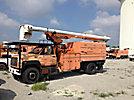 Altec LRV-60E70, Over-Center Elevator Bucket Truck, mounted behind cab on, 2002 GMC C7500 Chipper Dump Truck