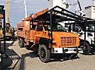 Altec LRV-60E70, Over-Center Elevator Bucket Truck, mounted behind cab on, 2003 GMC C7500 Chipper Dump Truck