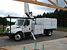 Altec LRV-60E70, Over-Center Elevator Bucket Truck, mounted behind cab on, 2005 International 4300 Dump Chipper Truck