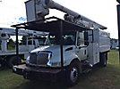 Altec LRV56, Over-Center Bucket Truck mounted behind cab on 2004 International 4300 Chipper Dump Truck