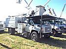 Altec LRV60-E70, Elevator Bucket Truck, mounted behind cab on, 2004 GMC C7500 Chipper Dump Truck