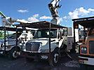 Altec LRV60-E70, Over-Center Elevator Bucket Truck, mounted behind cab on, 2003 International 4300 Chipper Dump Truck