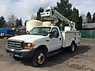 Altec TA35, Articulating & Telescopic Bucket Truck, mounted behind cab on, 1999 Ford F550 4x4 Service Truck