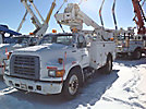 Altec TA35, Articulating & Telescopic Material Handling Bucket Truck, mounted behind cab on, 1997 Ford F800 Utility Truck