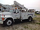 Altec TA37-MH, Articulating & Telescopic Material Handling Bucket Truck, mounted behind cab on, 1996 Ford F800 Utility Truck